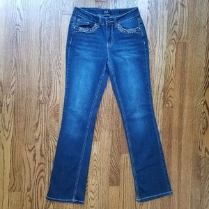 Earl Jean Slim Boot Embellished Bootcut Jeans 8